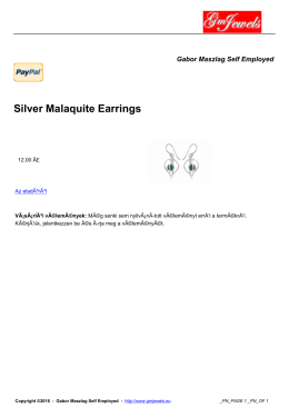 Silver Malaquite Earrings