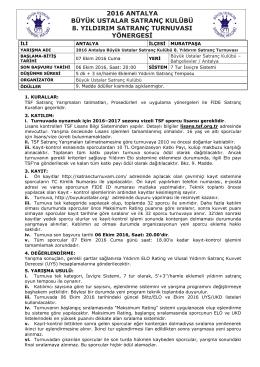 Yönerge - Antalya Büyük Ustalar Satranç Kulübü