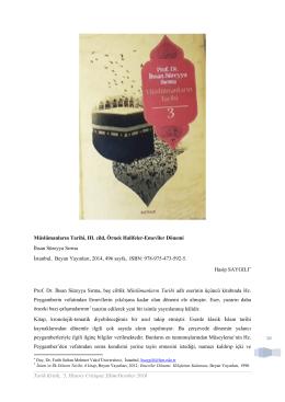 16 Müslümanların Tarihi, III. cild, Örnek Halifeler