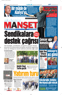 Rıza Çalımbay Antalyaspor`da Rıza Çalımbay Antalyaspor`da Rıza