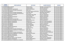 başvurusu kabul edilen öğreci listesi için tıklayınız