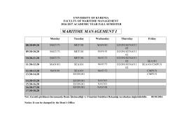 2016-2017 Güz Dönemi Ders Programı ()