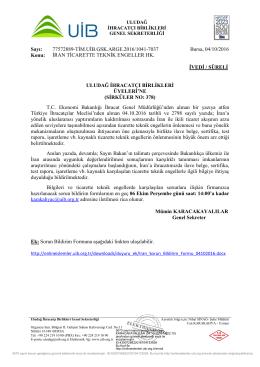 İRAN TİCARETTE TEKNİK ENGELLER HK.