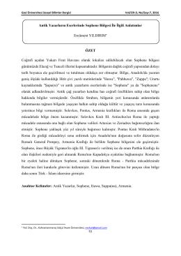 Tam Metin - Sosyal Bilimler Dergisi