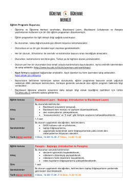 Eğitim Programı Duyurusu de takip edilebilir (http://www.ieu.edu.tr/tlc