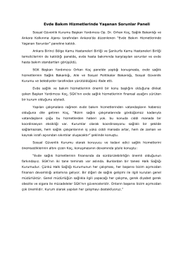 10/4/16 SGK Başkan Yardımcısı Dr. Orhan Koç, Sağlık Bakanlığı ve