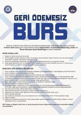 Burs Afisi_2016 - E.Ü. Sağlık Kültür ve Spor Daire Başkanlığı