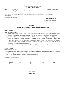 1.a.l.tertip komitesi kararı - TFF İstanbul İl Temsilciliği