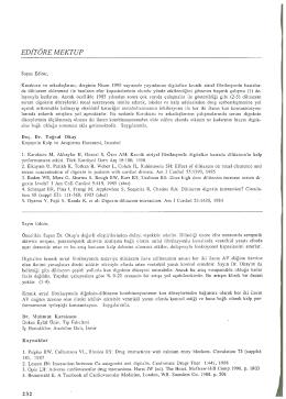 editöre mektup