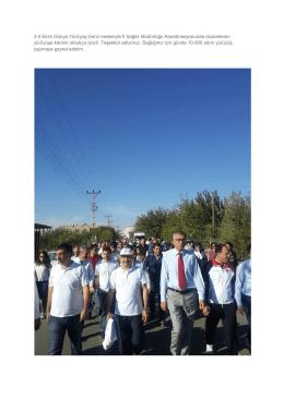 3-4 Ekim Dünya Yürüyüş Günü nedeniyle İl Sağlık Müdürlüğü