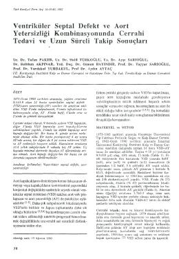 Ventriküler Septal Defekt ve Yetersizliği