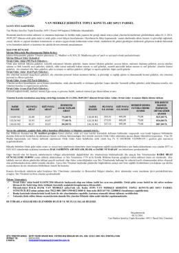 van merkez şerefiye toplu konutları 1691/1 parsel
