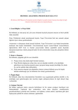 BAP Klavuz - Proje Destek Ofisi