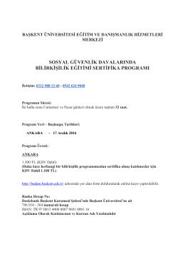 sosyal güvenlik davalarında bilirkişilik eğitimi sertifika
