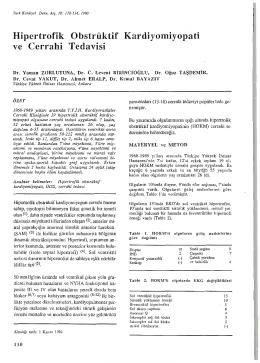 Hipertrofik Obstrüktif Kardiyomiyopati ve Cerrahi