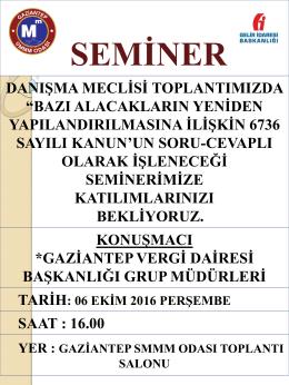 Slayt 1 - Gaziantep SMMM Odası