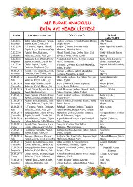 alp burak anaokulu ekim ayı yemek listesi