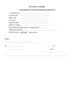 kurs kayıt formu ( pdf )