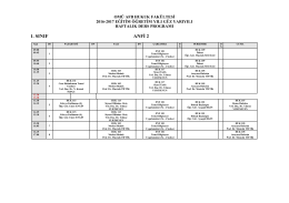 1. sınıf anfi 2