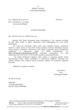 Fatih Projesi 3. Faz Altyapı - Mersin İl Milli Eğitim Müdürlüğü