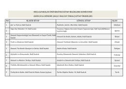 ekim 2016 dönemi (halil inalcık temalı) kitap önerileri