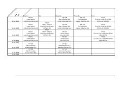 I.SINIF ENF Pazartesi Salı Çarşamba Perşembe Cuma 09.10