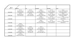 I.SINIF TGT Pazartesi Salı Çarşamba Perşembe Cuma 09.10