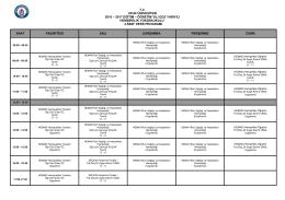 T.C. UFUK ÜNİVESİTESİ 2016 – 2017 EĞİTİM – ÖĞRETİM YILI GÜZ
