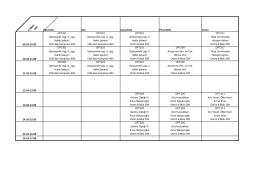 II.SINIF OPT Pazartesi Salı Çarşamba Perşembe Cuma 09.10