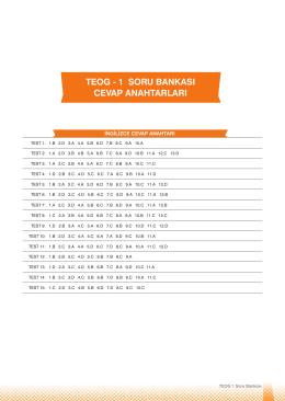 teog - 1 soru bankası cevap anahtarları