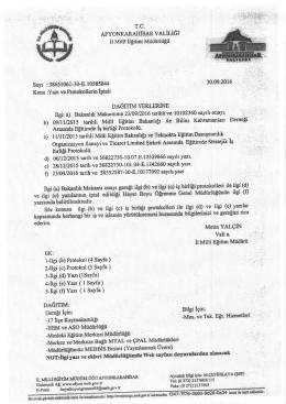 c) 1l/11/2015 tarihli Milli EgitimBakaillrlr ve Teknokta