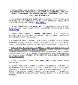 Bursa Sözleşmeli Zabıt Kâtipliği, Sözleşmeli
