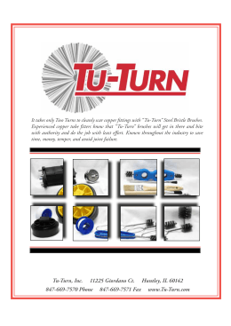 Catalog for Tu Turn Cover 5.indd