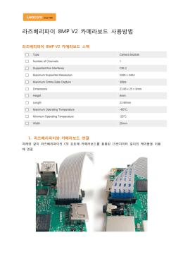 라즈베리파이 8MP V2 카메라보드 사용방법