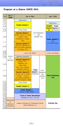 Program at a Glance ICMTE 2016
