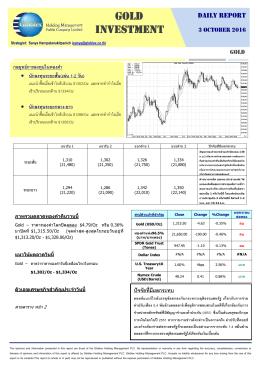 03-10-59 บทวิเคราะห์ทองคำ (Day Report)