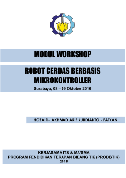 MODUL WORKSHOP ROBOT CERDAS BERBASIS