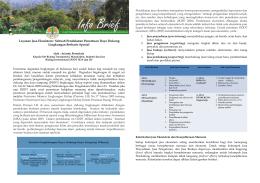 Layanan Jasa Ekosistem - Pusat Pengendalian Pembangunan