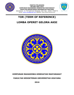 TOR (TERM OF REFERENCE) LOMBA OPERET GELORA AKSI