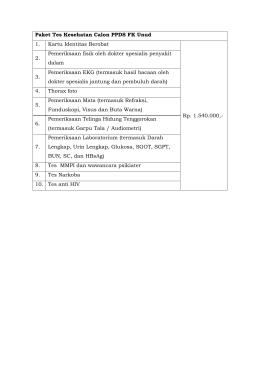 Alur Tes Kesehatan - Universitas Udayana
