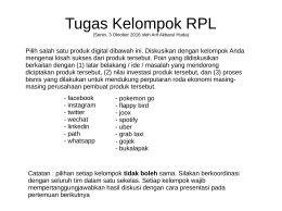 Tugas Kelompok RPL - E-Learning   STMIK AMIKOM Yogyakarta