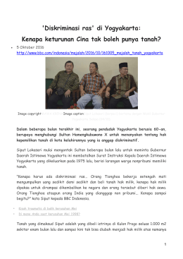 `Diskriminasi ras` di Yogyakarta: Kenapa keturunan Cina