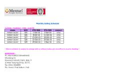 Sailing Schedule Feeder Consol mfs okt 2016 (Srg)