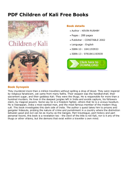 PDF Children of Kali Free Books