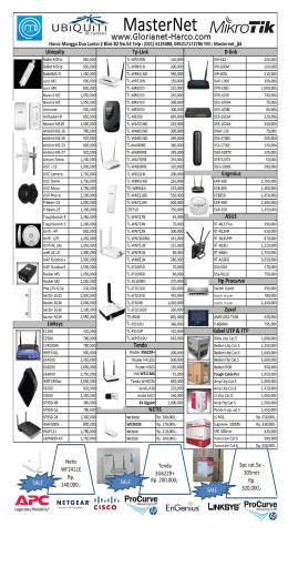 Price List MasterNet