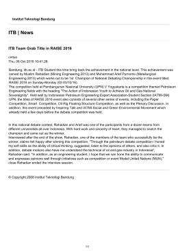 ITB News - Institut Teknologi Bandung