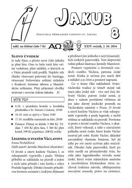 aktuální číslo 8/16 - Římskokatolická farnost sv. Jakuba v Příbrami