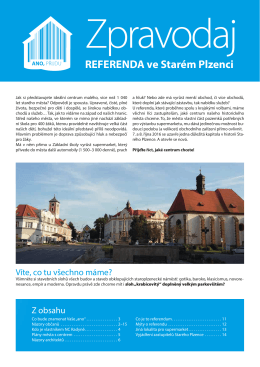 Zpravodaj - Referendum Starý Plzenec