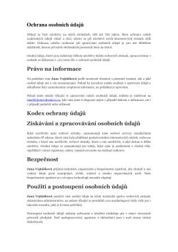 Více informací - janavojtaskova.cz