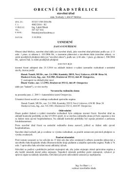 STAV/1385/2016/Bí zastavení řízení Honkovi